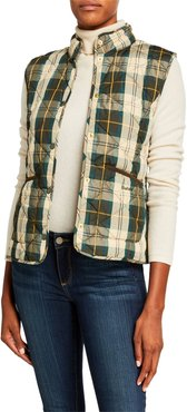 Hartan Fitted Gilet in Plaid