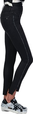 Miranda Step-Hem High-Rise Skinny w/ Crystals