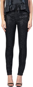 Gisele High-Rise Super Skinny with Leopard Foil