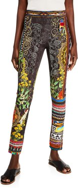 Abstract Print Ponte Leggings