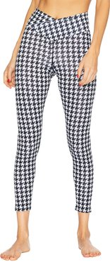 Cara Houndstooth V-Waist Leggings