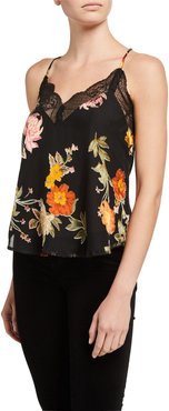 Ceci Floral Cami with Lace
