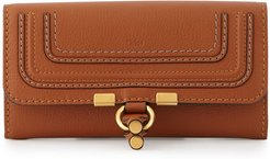 Marcie Continental Flap Wallet, Tan