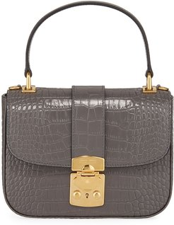 St. Cocco Alligator-Embossed Crossbody Bag