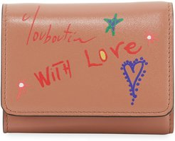 With Love Script Leather Wallet