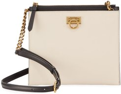 Gancio Square Bicolor Crossbody Bag