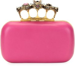 Jeweled Insect Four-Ring Box Clutch Bag