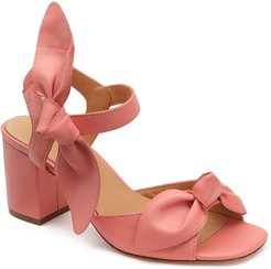 Carmen 65mm Leather Bow Sandals