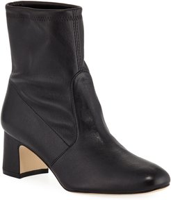 Niki Stretch Leather Booties