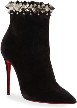 Firmamma Suede Spike Red Sole Booties