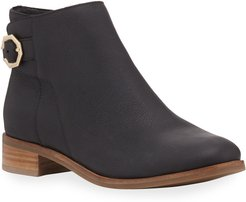 Lilah Leather Buckle Booties