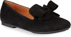 Eugene Suede Ribbon Bow Loafers