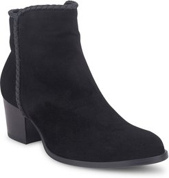 Simona Suede Zip Ankle Booties