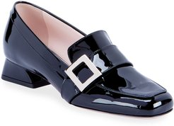 Bracelet Buckle Patent Leather Loafers