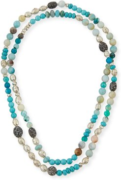 Liza Long Beaded Turquoise Necklace