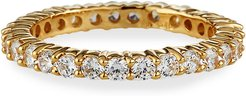 Narrow 14k Gold Cubic Zirconia Eternity Band Ring, Size 6-8