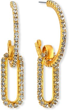 Charlisle Crystal-Link Hoop Earrings