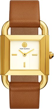 Phipps Leather 2-Hand Watch, Gold