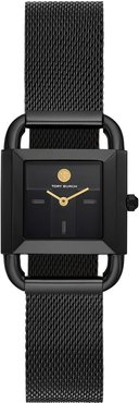 Phipps 2-Hand Stainless Steel Mesh Watch, Black