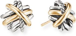 Crossover Sterling Silver & 18k Gold Stud Earrings