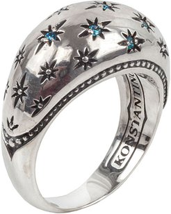 Astria Blue Spinel Spectral Constellation Ring, Size 7