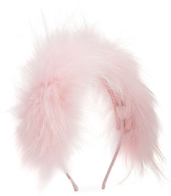 Girl's Allover Fox Fur Headband