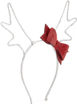 Girl's Reindeer Antlers Headband w/ Crystal Bow
