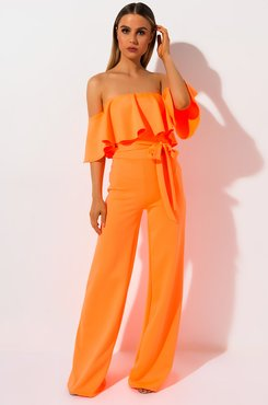 All Tied Up Off The Shoulder Jumpsuit