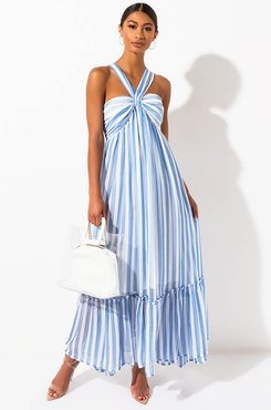 Another Lifetime Striped Maxi Dress