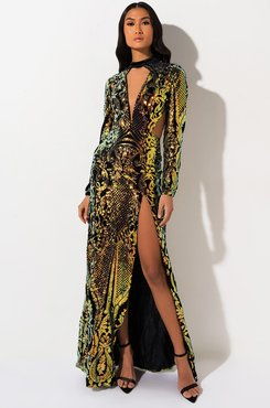 Better Than I Was Sequin Maxi Dress