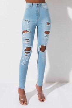 AKIRA Bitter Sweet High Rise Skinny Denim Pants