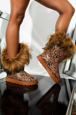 AKIRA Heating Up Faux Fur Ankle Boot