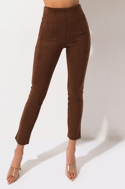 Million Reasons High Waisted Suede Pants