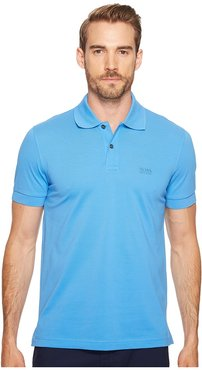 C-Firenze/Logo 10108 (Medium Blue) Men's Short Sleeve Knit