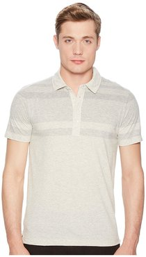 Gradient Polo (Natural/Light Grey) Men's Clothing