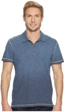 Kirra Short Sleeve Polo (Deep Indigo) Men's Short Sleeve Pullover