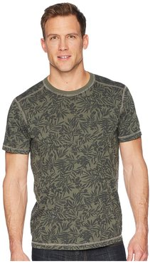Frisco Woods Short Sleeve Crew Neck Flora Camo Print (Thyme) Men's Short Sleeve Pullover