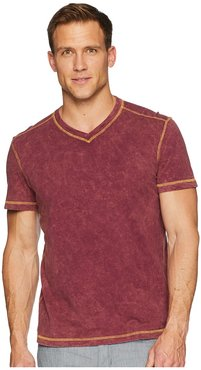 Dungeons Short Sleeve V-Neck (Grape Wine) Men's Short Sleeve Pullover