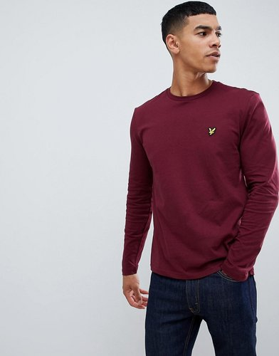 long sleeve plain t-shirt - Red