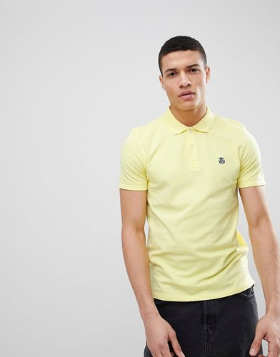 polo with badge - Yellow