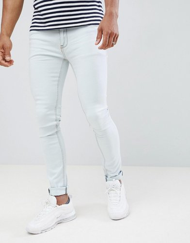 Skinny Fit Jeans in Bleach Wash - Blue