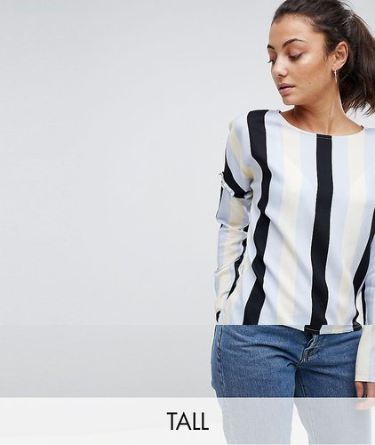 Stripe Blouse With Frill Detail - Multi