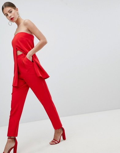 Peace And Love Tapered PANTS - Red