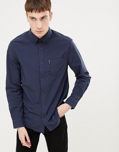 gingham slim fit shirt - Blue