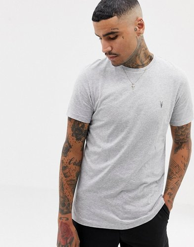 T-Shirt In Gray Marl With Logo - Gray