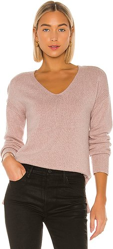 Twisted V Neck Sweater in Pink. - size M (also in S,XS,L)