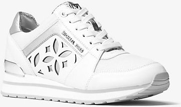 Mimi Perforated Leather And Mesh Sneaker