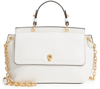 Zoe Leather Satchel - White
