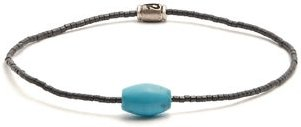 Horus Eye Beaded Bracelet - Mens - Grey Multi