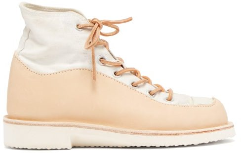 Wavey Recycled High Top Trainers - Womens - Tan White